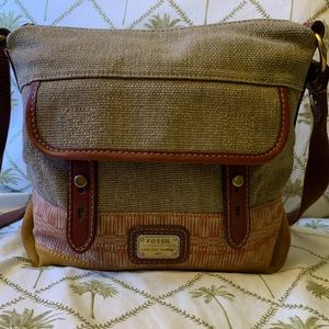 Fossil long live vintage crossbody messenger bag